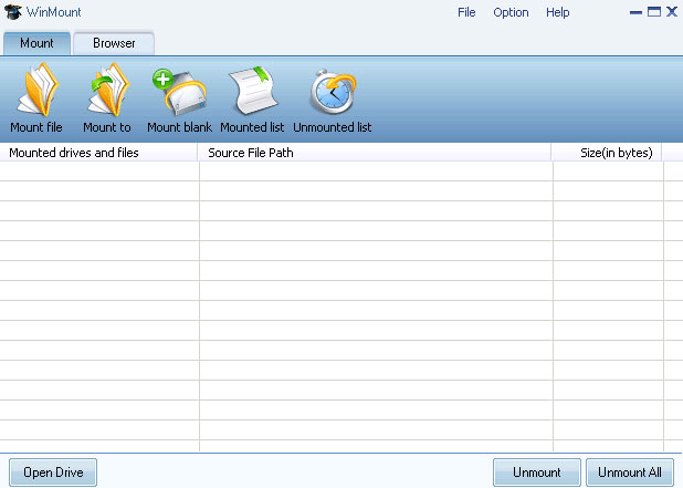 Compress and Mount RAR ZIP MOU and CD DVD HDD images as virtual disk/folder.